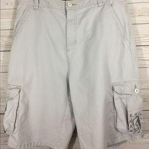 O'Neill Mens Cargo Shorts Size 36 Flat Front